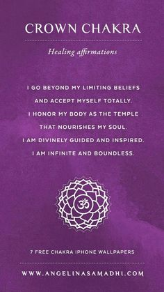 Crown Chakra Affirmation | How to heal your crown chakra and keep it healthy
