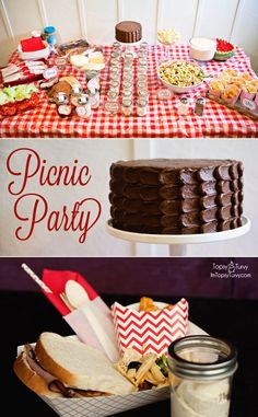 Im Topsy Turvy: Picnic Party – Food & Printables..I was thinking of not doing a theme so maybe I'm just hungry but this would be cute.