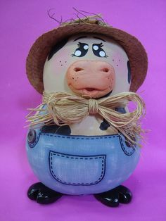 Mr. Moo III by Pra Você! This cow gourd is too cute.