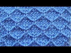 Рельефный узор крупными сотами Вязание спицами Видеоурок 156 - YouTube
