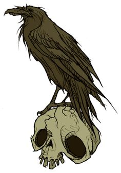 A little tattoo design I was commissioned to make. November is the best Poe month right after October. - hubbys raven tattoo