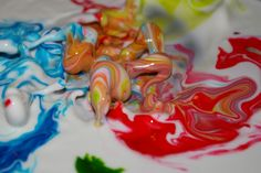 pretty cool.-It's alive! One of the coolest science experiments ever!- cornstarch and water mixture moves to sound so kids can visually experience sound waves.