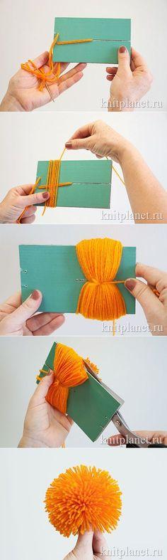 Планета Вязания | Как сделать красивый помпон.