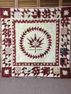 Canada 150. Manitoulin Island Maple Leaf Canadian Quilts, Quilts Canada, Canada Maple Leaf, Canada 150, Quilt Of Valor, Cool Countries, Quilt Blocks, Maple Leaves, Quilt Patterns
