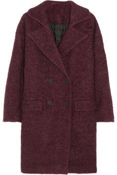 Burgundy oversized coat