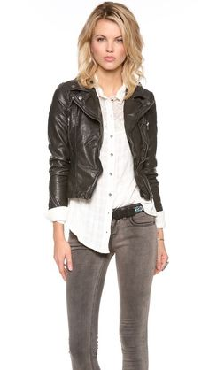 The perfect jacket!  Free People Vegan Leather Peplum Jacket