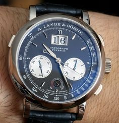 Super snob appeal with arrogant black colour. I like. A. Lange & Sohne Datograph #watches