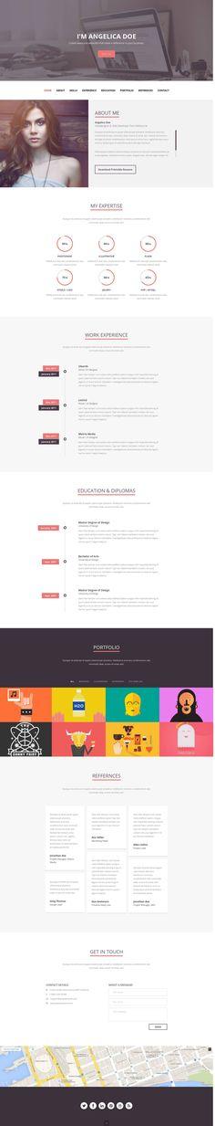Folix - Responsive Resume, Personal Portfolio Temp - Site Templates   ThemeForest