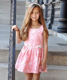 Another great find on #zulily! Sweet Charlotte Pink Brocade Dress - Infant & Toddler by Sweet Charlotte #zulilyfinds