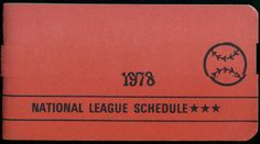 1978 NATIONAL LEAGUE OFFICIAL  BASEBALL SCHEDULE BOOKLET NMMT+  FREE SHIPPING #SCHEDULE