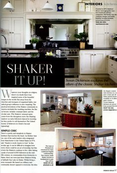 Classic Shaker kitchens, featuring Martin Moore martinmoore.com Period Ideas November 2014