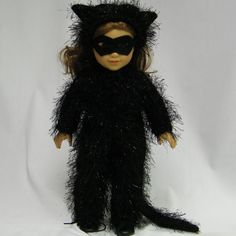 Shaggy Black Cat Costume for American Girl by juliascreations, $35.00