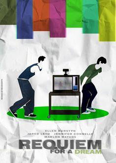 Requiem for a Dream (2000) ~ Alternative Movie Poster by Bruna Cabral #amusementphile