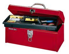 Amazon.com: Stack-On R-516-2 16-Inch Multi-Purpose Steel Tool Box, Red: Home Improvement