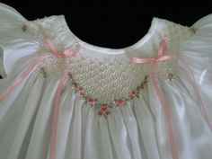 Hand smocked by Marianela Collado