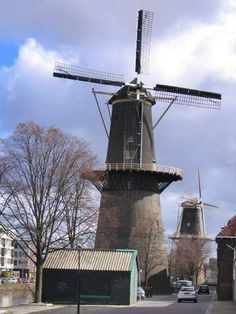 Heading north, the next two windmills come into sight: De Noord and De Nieuwe Palmboom.