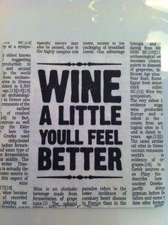 Wijn...