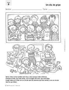 Fichas para el_desarrollo_de_la_inteligencia_1 Brain Gym, School Counseling, Colorful Pictures, Pre School, Activities For Kids, Teaching, Worksheets, College, Ideas