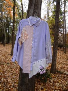 Altered Upcycled Plus Size Shirt / OOAK / Funky / by UpCDooZ, $42.00