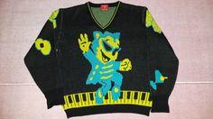 クリームソーダ初期ティミーニットセーター ピンクドラゴン CREAM SODA ブラックキャッツ_画像1