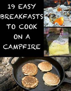 Campfire breakfasts...just in case I ever get convinced to actually cook whilst camping... Hahaha!