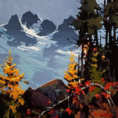 "THE PRECIPICE AND THE TANTALUS by Michael O'Toole Acrylic ~ 16"" x 16"""