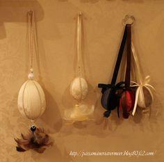 ボールオーナメント・・・「Chez Mimosa シェ ミモザ」   ~Tassel&Fringe&Soft furnishingのある暮らし~   フランスやイタリアのタッセル・フリンジ・ファブリック・小家具などのソフトファニッシングで、  暮らしを彩りましょう。   http://passamaneriavermeer.blog80.fc2.com/
