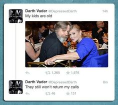 Misunderstood Dad Vader He must be feeling really sad now that he's list his sweet daughter! But what the hell am i sayi'?? Vader's long dead!!!!