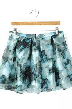 Gorgeous Fabric! Love these Colors! Teal and Aqua Blue Summer Floral Print Pleated Mini Zipper Skirt #Gorgeous #Teal #Aqua #Blue #Mint  #Mini #Skirt #Fashion Atuendos Con Falda Casual, Trajes De Muy Buen Gusto, Trajes Para Adolescentes, Trajes Bonitos, Moda De Faldas, Trajes De Moda, Diseño De Moda, Ropa Interior De La Perla