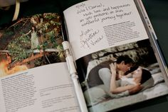 Pick out a coffee table book together to use as a guest book