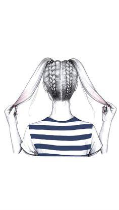 + rodetes De colitas a trenzasDe colitas a trenzas Bff Drawings, Tumblr Drawings, Pencil Art Drawings, Art Drawings Sketches, Hipster Hairstyles, Quick Hairstyles, Braid Hairstyles, Ladies Hairstyles, Drawing Hairstyles