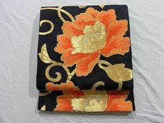 Appealing Botan Arabesque Pattern Fukuro Obi