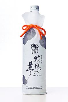 Milk #Shochu in clever  #cow #packaging PD
