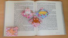 折り紙 猫のバスケット しおり 簡単な折り方(niceno1)Origami cat in the basket bookmark