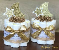 Love You To The Moon And Back Diaper Cake Baby Shower Gift