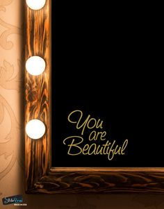 Decal #6083. Apply this quote to your bathroom mirror and you will always be reminded every morning on just how beautiful you are.  Give your child the confiden