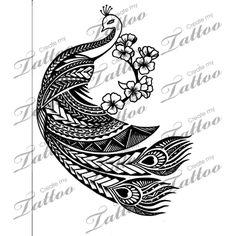 Tribal Peacock Tattoo