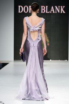 Oxumoro Collection by Dora Blank Couture. Вечернее платье из шёлка. Evening silk dress