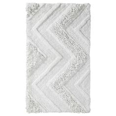 Room Essentials; Bath Rug - Snow White (20x34)