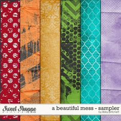 Quality DigiScrap Freebies: A Beautiful Mess paper pack freebie from Libby Pritchett
