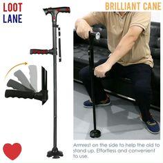907033cdb Awesome Telescopic Folding Cane Walking Stick for men and women. Forsining Skeleton  Watch ...