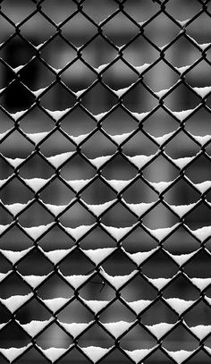 Black & White Photography Inspiration Picture Description Fence and Snow by Neil Johnson Black White Photos, Black N White, Black And White Photography, White Art, Snow White, Pattern Photography, Art Photography, Texture Photography, Symmetry Photography