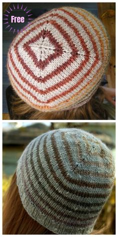 Baby Knitting Patterns Ravelry Knit Turn A Square Hat Free Knitting Pattern Mittens Pattern, Sweater Knitting Patterns, Knitting Socks, Free Knitting, Knitted Hats, Crochet Hats, Hat Patterns, Linen Stitch, How To Purl Knit