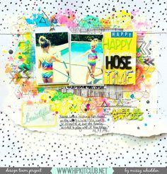Hip Kit Club DT Project - 2015 May Hip Kits - American Crafts, Chickaniddy Crafts, Evalicious, Pebbles, Pink Paislee, Dylusions, Ranger Distress Paint & Paint Dabbers, Prima Watercolor Pencils