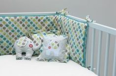 Cot Bumper Set For Boy Or Girl by ella & otto, the perfect gift for Explore more unique gifts in our curated marketplace. Cot Bedding Sets, Nursery Bedding, Nursery Room, Baby Room, Cot Bumper Sets, Baby Bumper, Baby Lollipops, Nursery Accessories, Childrens Beds