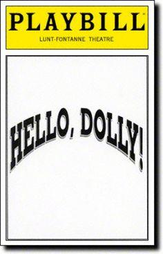 Hello, Dolly! Playbill - Dec 1995