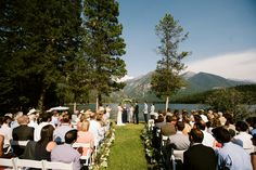 Read More: http://www.stylemepretty.com/2014/11/05/rustic-wedding-at-holland-lake-lodge/