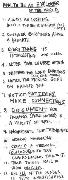 How to be an explorer of the world. from the ever great Keri Smith