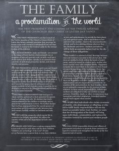 The Family - A Proclamation to the World Chalkboard Print