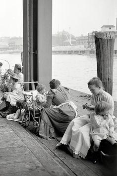 Circa 1900. Recreation dock (amusement pier), New York. http://librar-y.tumblr.com